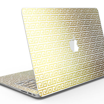 Golden Greek Pattern - MacBook Air Skin Kit