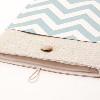 Laptop sleeve. Padded laptop case. MacBook 11 Air case. MacBook 13 Pro with Retina display; MacBook 15 Pro cover. Chevron print cover.