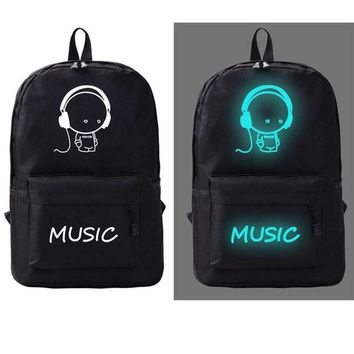 DCCK7N3 Outdoor Canvas Backpack Galaxy Luminous Cartoon Printing Backpack Girl & Boy School Sports Bags for Teenagers Outdoor Travel Bag