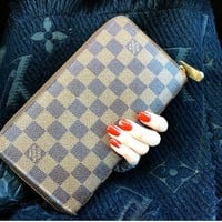 LOUIS VUITTON Damier Ebene Zippy Organizer Travel XL Wallet