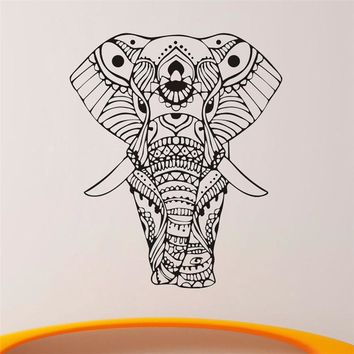 2016 New Design Wall Stickers Mandala Yoga Ornament Indian Buddha God Elephant Quality Wall Decals Home Decoration Murals