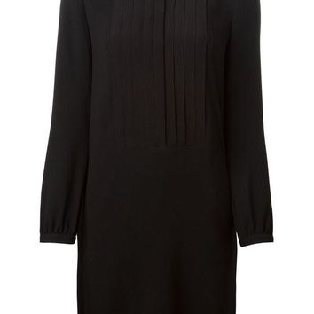 ONETOW Burberry Brit pleated yoke detail dress