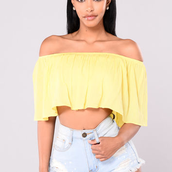 Magari Off Shoulder Top - Yellow