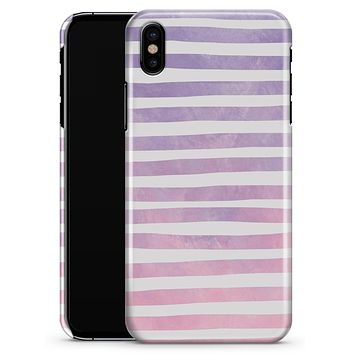 Purple WaterColor Ombre Stripes - iPhone X Clipit Case