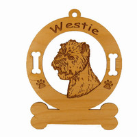 4217 Westie Head Ornament Personalized with Your Dog's Name