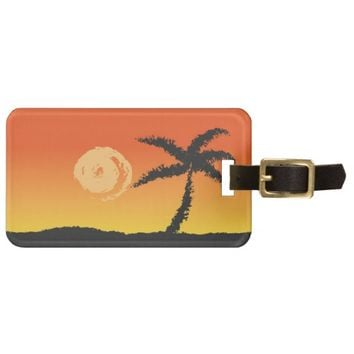 Island Sunset Bag Tag