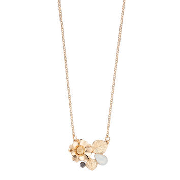 LC Lauren Conrad Flower Leaf Cluster Necklace