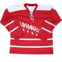 LA DOUBLE STRIPE LONG SLEEVE TEE / RED - JOYRICH Store