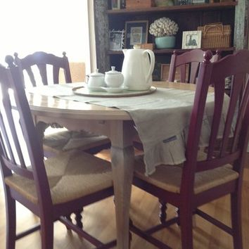 French Country Dining Table with Chairs