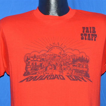 80s Basalt 4th Annual Railroad Day Fair t-shirt Medium