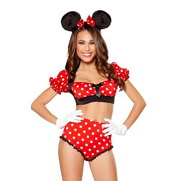 Girlie Mouse Top & High Waist Shorts Costume