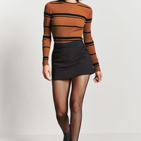 Striped Ribbed Knit Sweater
