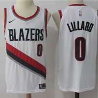 Best Deal Online NBA Authentic Basketball Player Jerseys Portland Trail Blazers # 0 Damian Lillard White
