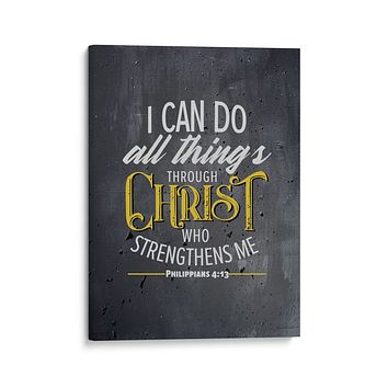 Philippians 4:13 Wall Decor - I Can Do All Things Through Christ
