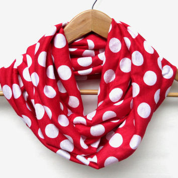 Red and White Polka Dot // Polka Dot Scarf // Mother's Day // Gift // Polka Dots // Spring Scarf // Summer Scarf // Lightweight // Alabama