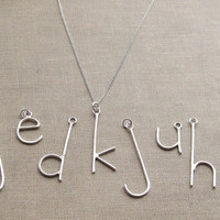 E is for Emmy, Pick Your Letter, Custom Initial Letter Necklace, Sterling Silver on Chain