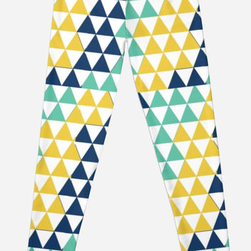 Modern Pastel Colors Triangle Pattern by shabzdesigns