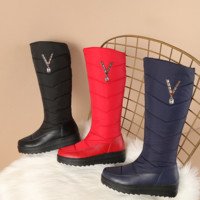New winter winter comfort boots for women with thick, flat, high down and warm boots