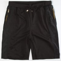 Aura Gold Poly Mesh Mens Shorts Black  In Sizes