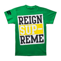 Reign Supreme Men's  Logo Green T-shirt Green