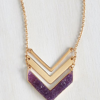 Boho A Druzy of a Time Necklace by ModCloth