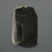 Waxed Cotton Kit Bag Olive