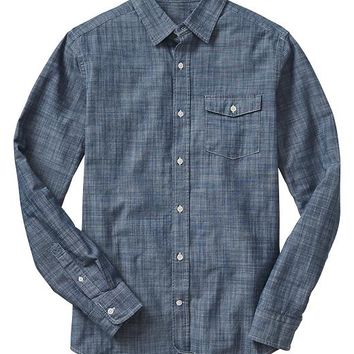 Gap Men Factory Chambray Shirt Slim Fit