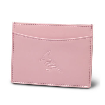 Blush Patent Leather Cardholder Wallet - Pipit