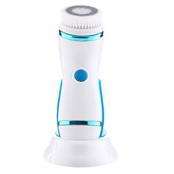 GWJ Facial Cleanser Brush, Electric Rotating Facial Cleansing Brush With USB Recharger Water Resistant Sonic Face Cleaners Facial Brush Skin Care Tool Beauty Instrument