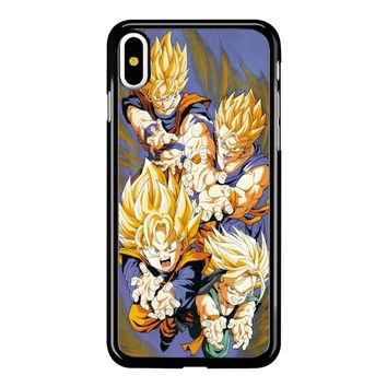 Dragon Ball Super Sayans iPhone X Case
