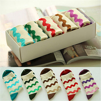 2016 New Womens Girls Comfortable Casual Sstockings (5 PCS) Socks-52