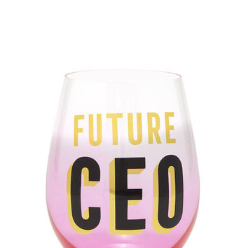 Future CEO Wine Glass