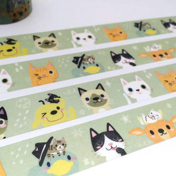 Lovely cat tape 10M Cat washi tape EXTRA WIDE tape funny cat pussy cat baby cat fat cat sticker tape cat planner diary meow meow gift