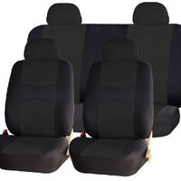 Universal Full Set OF Car Seat Covers - Solid Black UAA002 : Amazon.com : Automotive