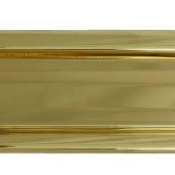 "National Hardware® N197-905 Mail Slot, 2"" x 11"", Polished Solid Brass"