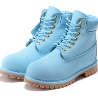 Timberland 10061 Two-color transparent bottom shock absorber insole blue