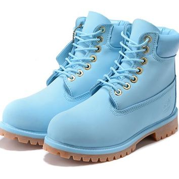 e191da4f0a1c0 Timberland 10061 Two-color transparent bottom shock absorber insole blue