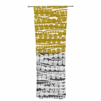 "Trebam ""Niska"" Gold White Digital Decorative Sheer Curtain"