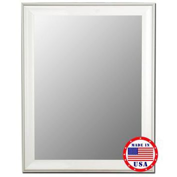 Hitchcock Butterfield Glossy White Grande Framed Wall Mirror
