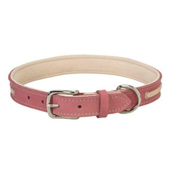 "Weaver Pet 06-5891-19 Deck Dog Collar, 19"", 1"" Wide, Coral & Natural"