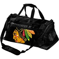 Chicago Blackhawks Medium Duffle Bag - Black