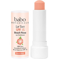 Sheer Lip Tint Conditioner SPF 15 Beach Rose Mineral Sunscreen Lip Balm