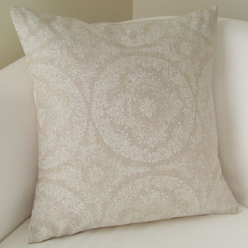 Decorative Pillow Cover 16 x 16 Inch Accent Cushion Throw Neutral Beige