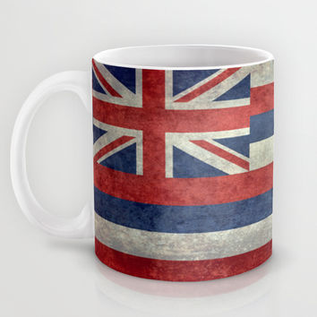 The State flag of Hawaii - Vintage version Mug by Bruce Stanfield