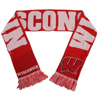 Wisconsin Badgers Wordmark Knit Scarf