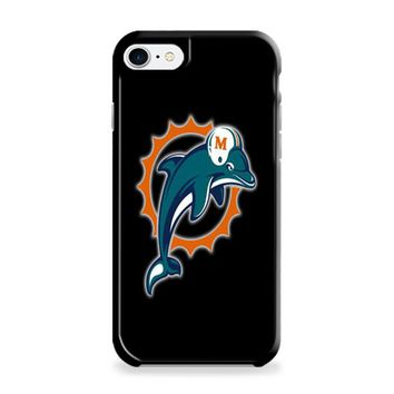 Miami Dolphins (logos on black) iPhone 6 | iPhone 6S Case