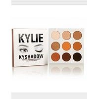 KYLIE 9 color eye shadow Kelly Christmas section repair bronze earth eye shadow plate
