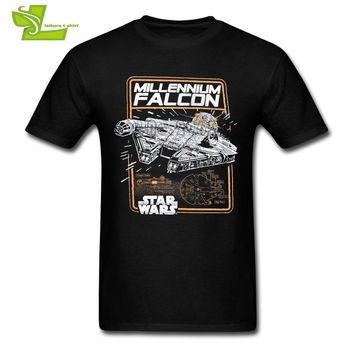 Star Wars Force Episode 1 2 3 4 5 Millennium Falcon  Man T Shirt Popular Classic T-Shirt Men Short Sleeve 100% Cotton Tees Guys New Coming Simple Clothes AT_72_6