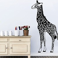 Giraffe Wall Decals Animals Vinyl Sticker Living Room Decor Baby Kids Wall Decor Home Decor Vinyl Nursery Bedroom Decor C540