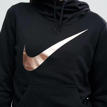 Nike Nike LOGO bronzing hooded leisure sports sweater